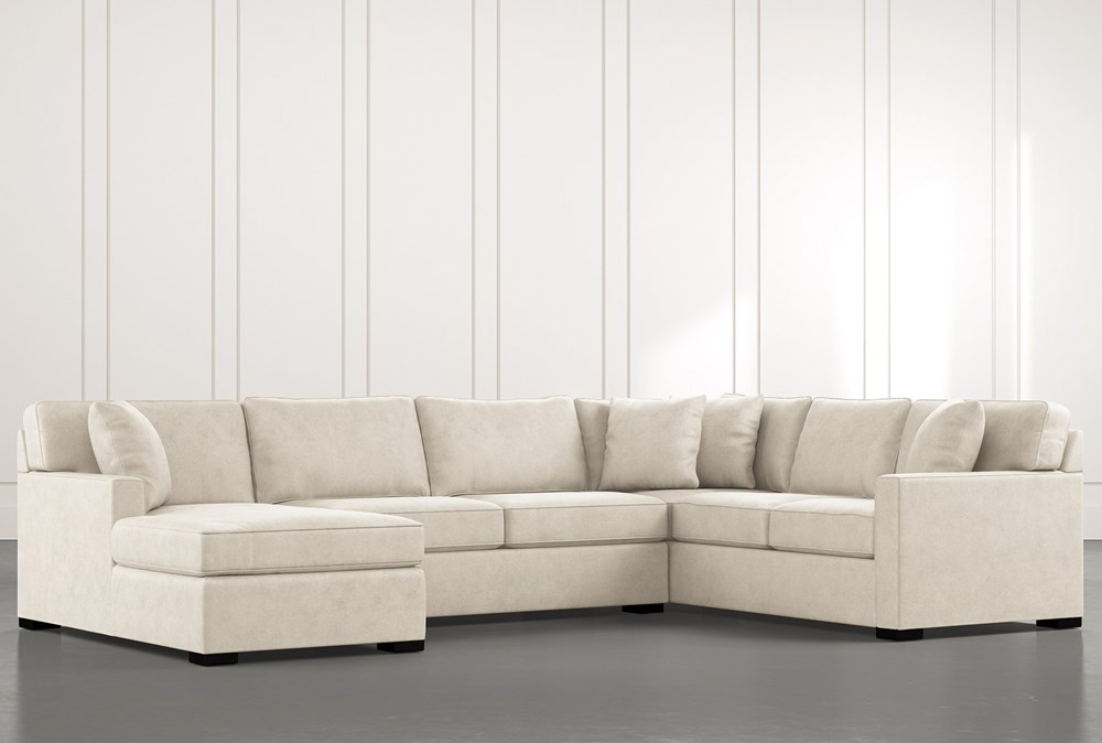 Alder Beige 3 Piece Sectional with Left Arm Facing Chaise