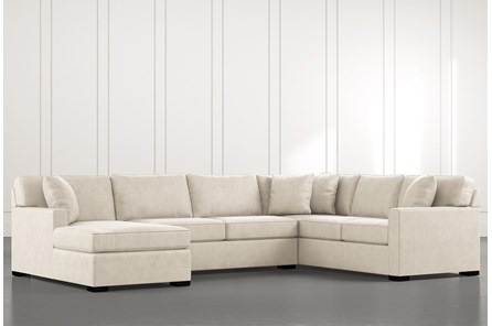 Alder Beige 3 Piece Sectional with Left Arm Facing Chaise - Main