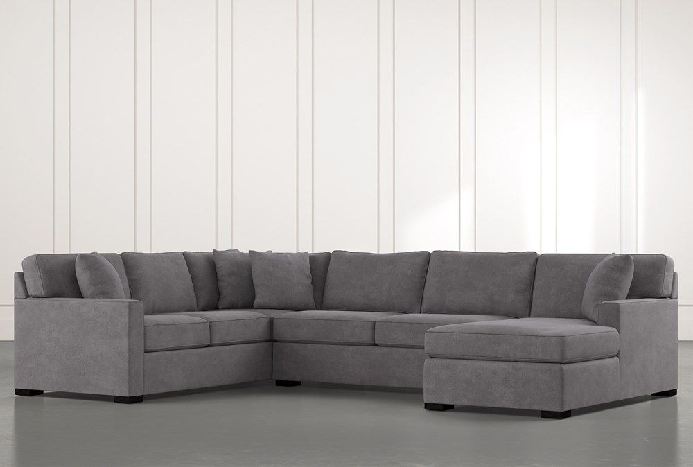 Alder Foam 3 Piece Sectional With Right Arm Facing Chaise