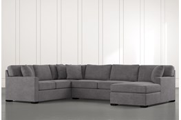 "Alder Foam 3 Piece 136"" Sectional With Right Arm Facing Chaise"