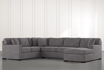 """Alder Foam 3 Piece 136"""" Sectional With Right Arm Facing Chaise"""