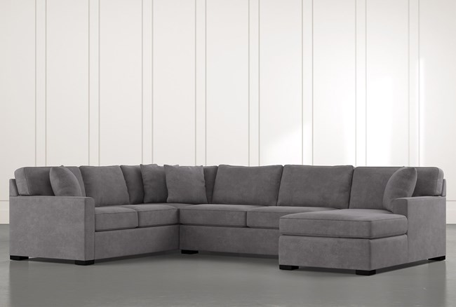 """Alder Foam 3 Piece 136"""" Sectional With Right Arm Facing Chaise - 360"""