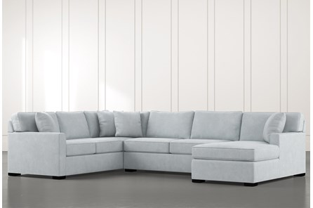 Alder Light Blue 3 Piece Sectional With Right Arm Facing Chaise - Main
