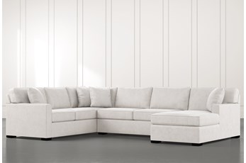 Alder Light Grey 3 Piece Sectional With Right Arm Facing Chaise