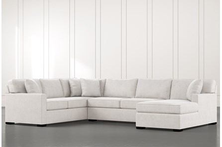 Alder Light Grey 3 Piece Sectional With Right Arm Facing Chaise - Main