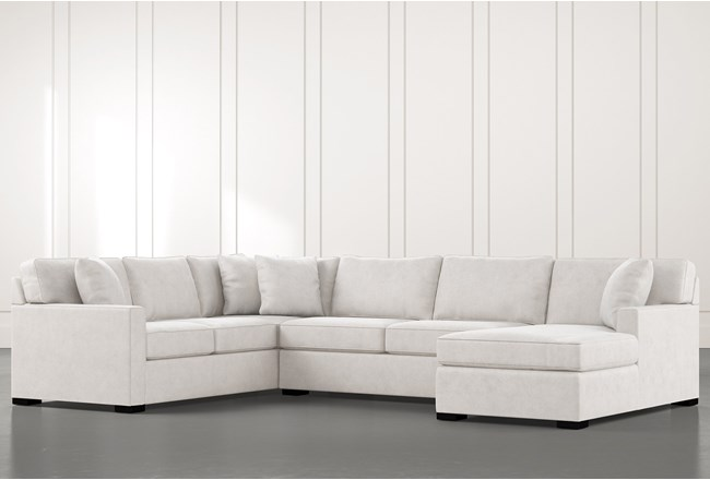 Alder Light Grey 3 Piece Sectional With Right Arm Facing Chaise - 360