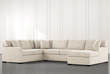 Alder Beige 3 Piece Sectional With Right Arm Facing Chaise