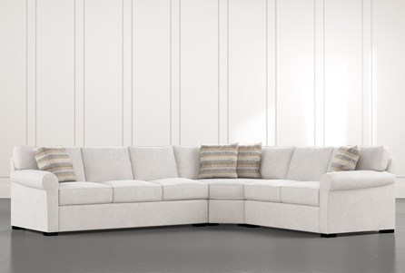 Elm II 3 Piece Sectional With Right Arm Facing Loveseat