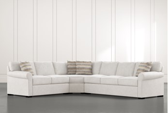 """Elm II Foam 3 Piece 127"""" Sectional With Right Arm Facing Sofa"""