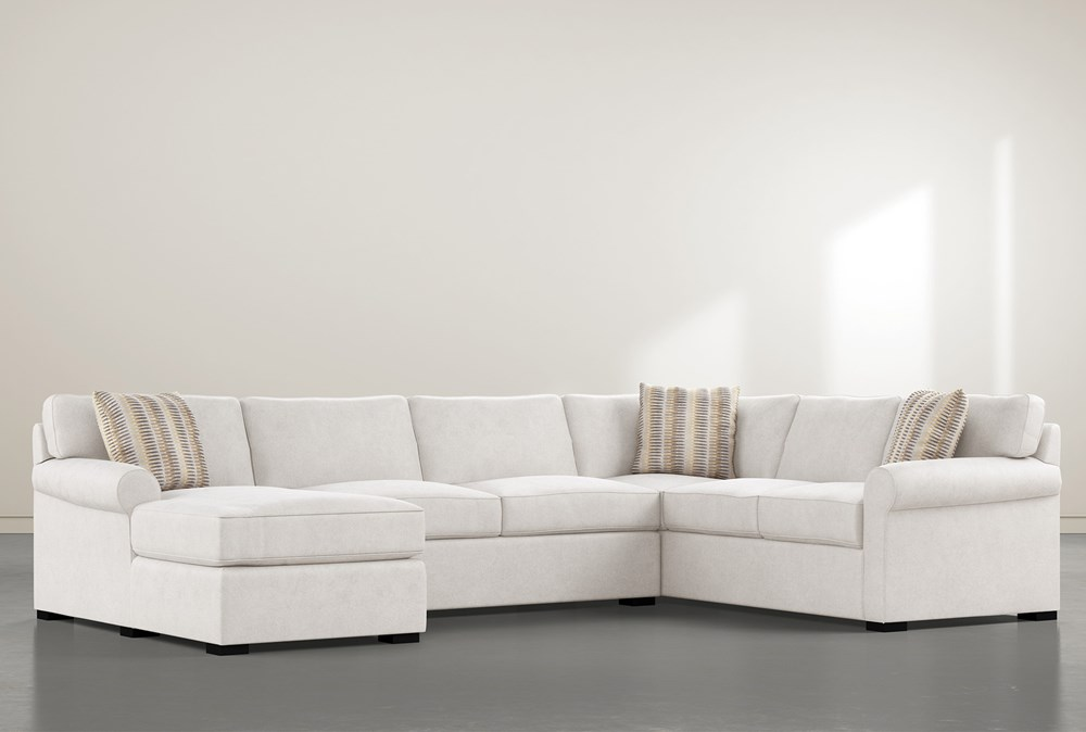 """Elm II Foam 3 Piece 136"""" Sectional With Left Arm Facing Chaise"""