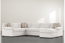 Elm II Foam 3 Piece Sectional With Right Arm Facing Chaise