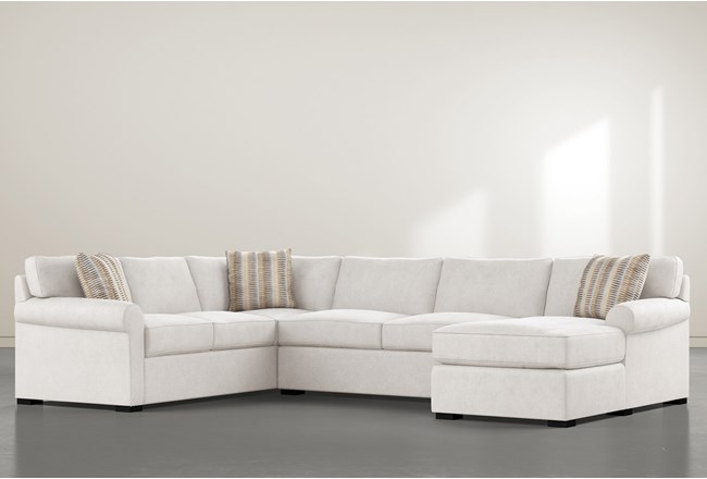 "Elm II Foam 3 Piece 136"" Sectional With Right Arm Facing Chaise - 360"
