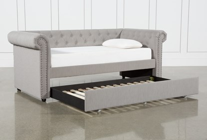 Amazing Dahlia Upholstered Daybed With Trundle Theyellowbook Wood Chair Design Ideas Theyellowbookinfo