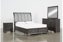 Malloy California King 4 Piece Bedroom Set