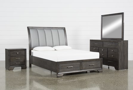 Malloy California King 4 Piece Bedroom Set