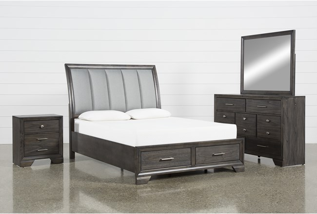 Malloy California King 4 Piece Bedroom Set - 360