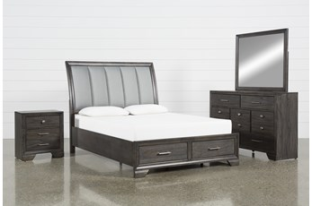 Malloy Eastern King 4 Piece Bedroom Set
