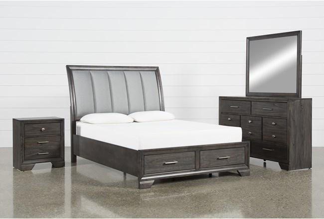 Malloy Eastern King 4 Piece Bedroom Set - 360