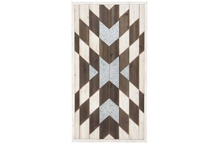 Patchwork Wood Wall Panel