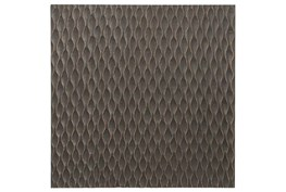 Geometric Carved Wood Panel