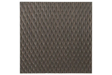 Geometric Carved Wood Panel