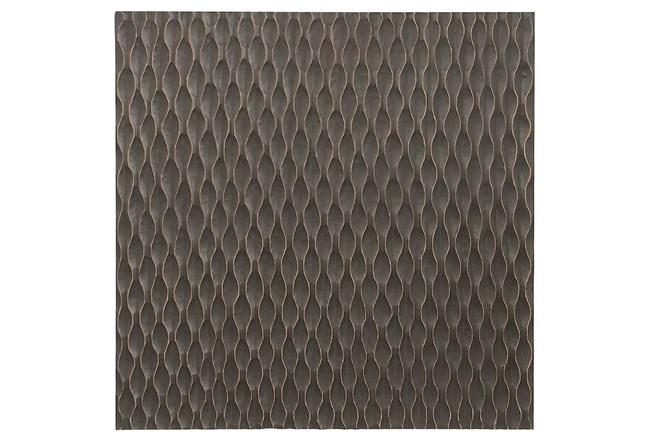 Geometric Carved Wood Panel - 360