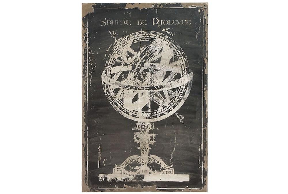 Picture-Antique Globe On Black 31X46