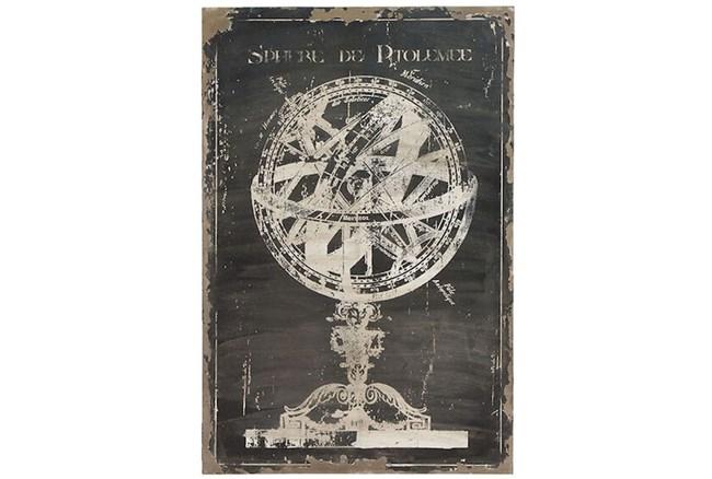 Picture-Antique Globe On Black 31X46 - 360