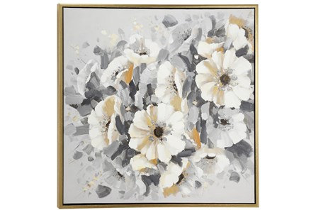 Picture-Silver Bouquet 39X39