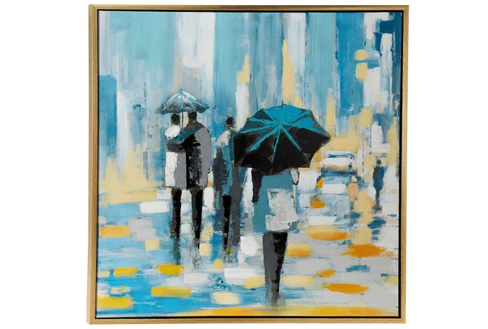 Picture-Blue Rain 39X39