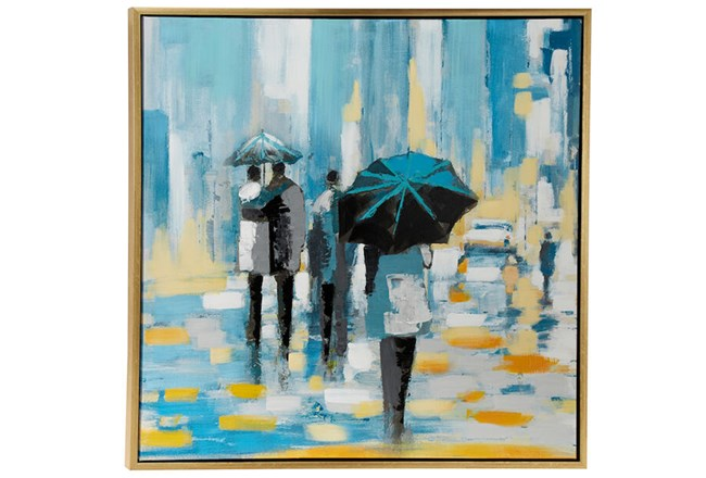 Picture-Blue Rain 39X39 - 360