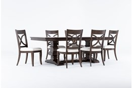 Sorensen 7 Piece Extension Pedestal Dining Set