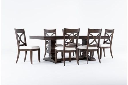 Sorensen 7 Piece Extension Pedestal Dining Set