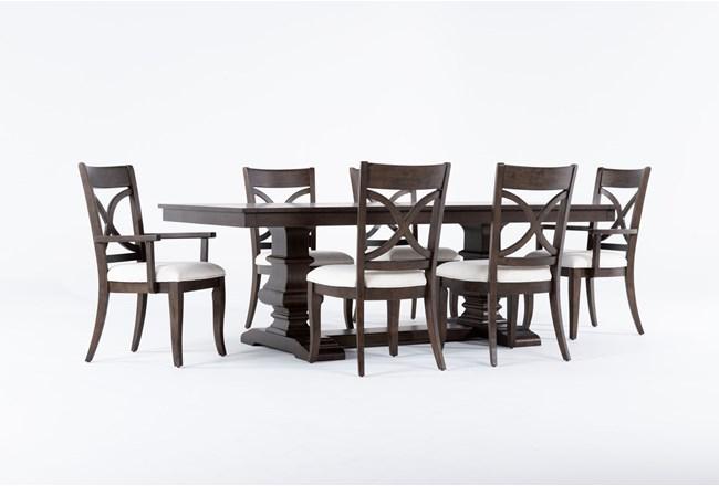Sorensen 7 Piece Extension Pedestal Dining Set - 360