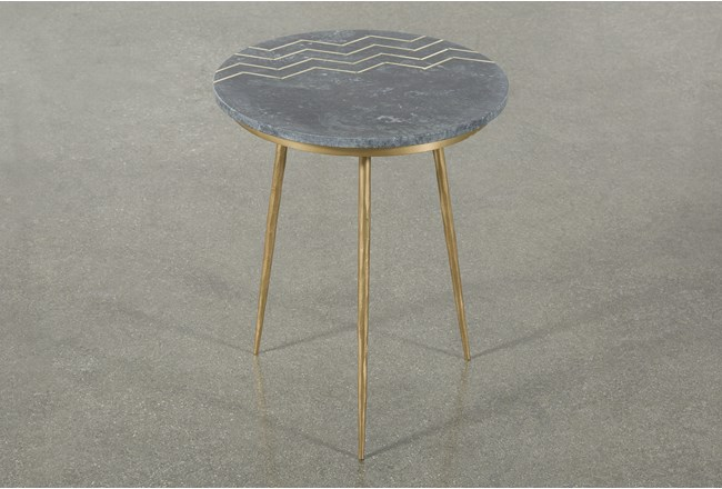 Marble Top Accent Table - 360