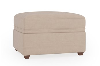 Magnolia Home Maison Homespun Cream Ottoman By Joanna Gaines