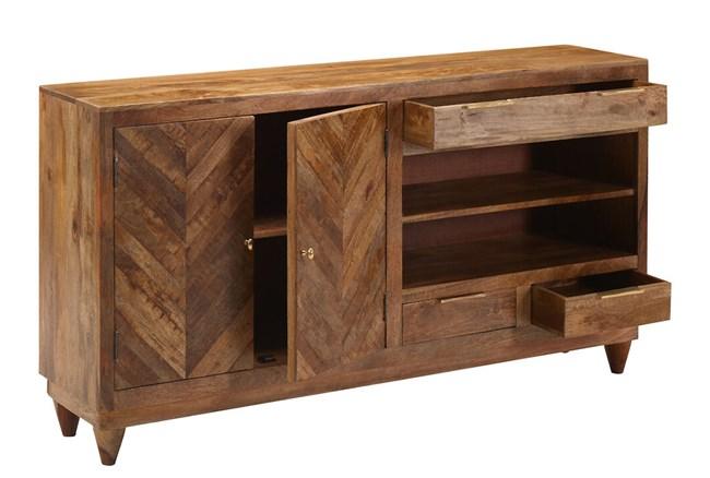 Brown Mango Wood Sideboard  - 360
