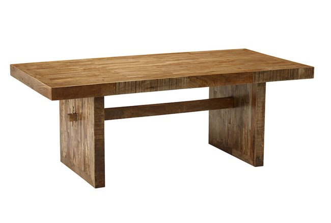 Brown 82 Inch Mango Wood Dining Table - 360