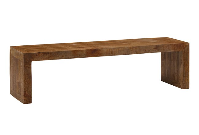 Brown Mango Wood Dining Bench  - 360