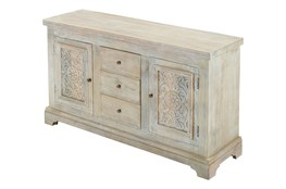 White Wash Crafted Sideboard