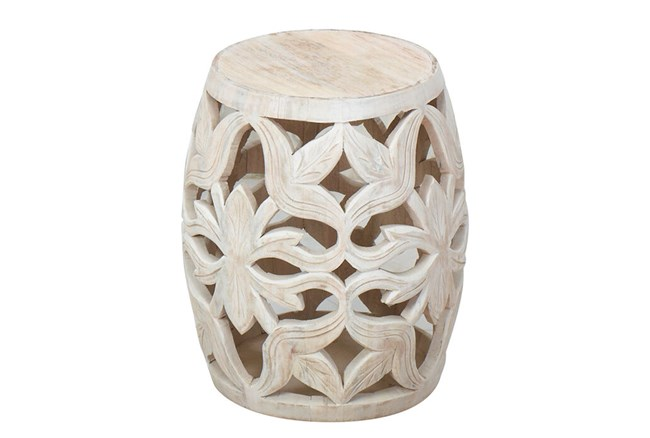 White Wash End Table  - 360