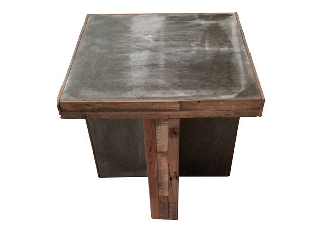 Brown Industrial End Table  - 360