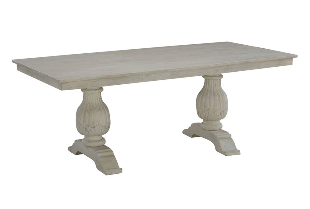 White Wash Rectangle Dining Table