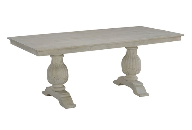 White Wash Rectangle Dining Table  - 360