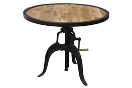 Mixed Metal Adjustable Table