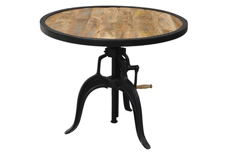 Mixed Metal Adjustable Table