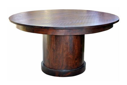 Brown Mango Wood Round Dining Table