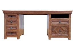 Brown 6 Drawer Desk