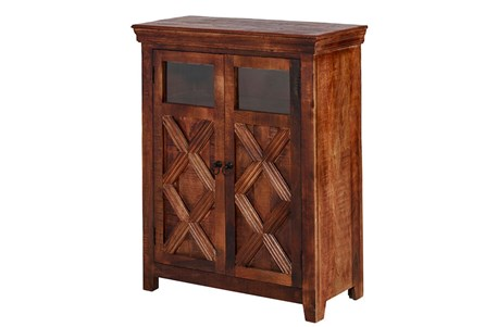 2 Glass 2 Door Bar Cabinet