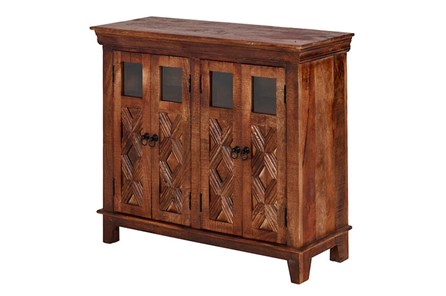 4 Glass 4 Door Bar Cabinet